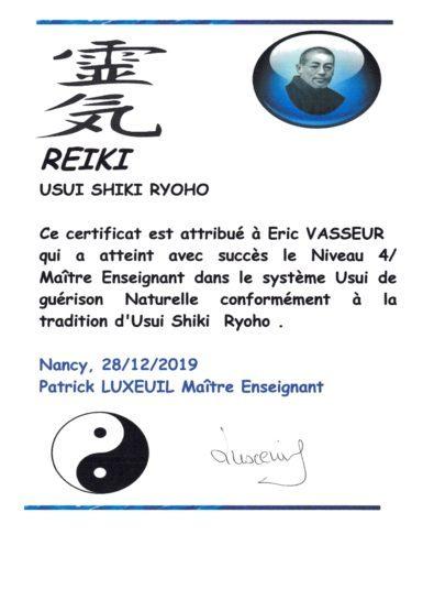 Initiation de Maître Enseignant Reiki
